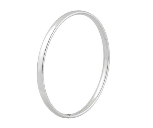 Sterling Silver Court Shaped Bangle